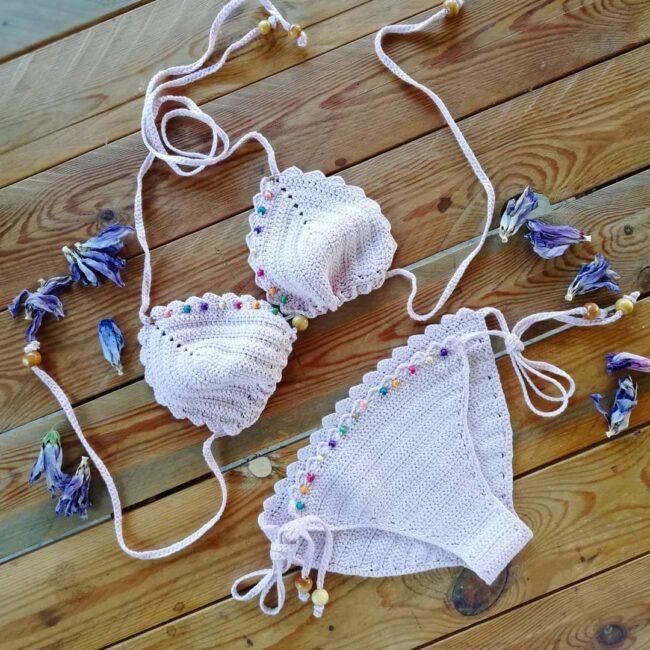 Bikini boho all'uncinetto